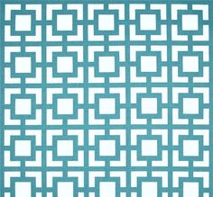 Blue Modern Geometric Squares Home Decor Fabric By By Cottoncircle