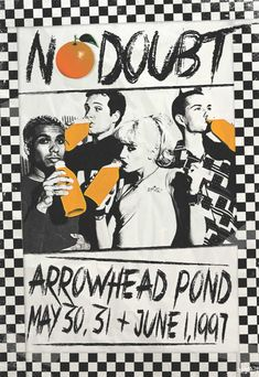 My Custom No Doubt Concert poster art for Rock & Brews Buena Park, CA with the graphic element
