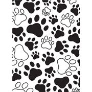 Darice® Embossing Essentials 4.25 x 5.75 inch Embossing Folder - Paw Print Background Product ID : 1218-03