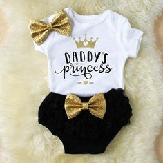 Baby clothes – Daddy's Girl shirt – Baby clothes – Father's Day outfit – Daddy's princess – Girl clothes – New baby gift – Baby show baby girl clothes daddys girl shirt baby girl outfits - Unique Baby Outfits Cute Newborn Baby Girl, Cute Baby Girl Outfits, My Baby Girl, Newborn Baby Girl Outfits, Baby Baby, Baby Girl Onesie, Baby Girl Shirts, Newborn Baby Clothes, Cute Baby Onsies