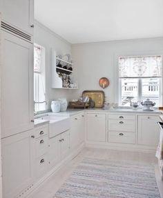 blinding white kitchen