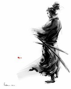 this is too awesome warrior samurai Japanese Culture, Japanese Art, Samourai Tattoo, Ronin Samurai, Samurai Artwork, Samurai Drawing, Miyamoto Musashi, Kendo, Hero Arts