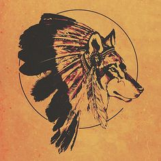 "danielcook: ""Warrior Spirit by Daniel Watts A digital artwork compiling a wolf in the traditional native American warrior headdress"" Wolf Tattoos, Tribal Wolf Tattoo, Tribal Tattoos, Tatoos, Native American Tattoos, Native Tattoos, Native American Warrior, Red Indian Tattoo, Guerrero Tattoo"