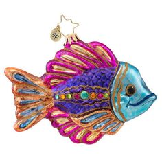 Radko Fish Christmas Ornament 2014 Absolutely beautiful in person and on my tree!!!