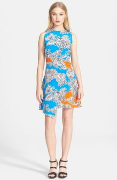 Tanya Taylor 'Mackenzie' Print Wrap A-Line Silk Dress available at #Nordstrom