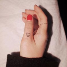 3D heart by Witty Button Thumb Tattoo that's sweet and delicate