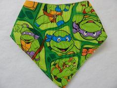 teenage mutant ninja turtles bandana-style drool bib **** bibs for boys **** ninja turtle baby bibs by SnazzyBoyClothing on Etsy