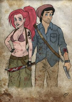 The Walking Disney: Your Favorite Disney Characters As Survivors On 'The Walking Dead'   Ariel/Eric