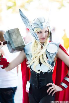 Thor The God of Thunder has been portrayed by the amazing actor, Chris Hemsworth. Here we bring you some of the mind-blowing Lady Thor cosplays. Lady Thor, Thor Girl, Diy Costumes, Cosplay Costumes, Costume Ideas, Cosplay Ideas, Halloween Cosplay, Halloween Costumes, Halloween 2015