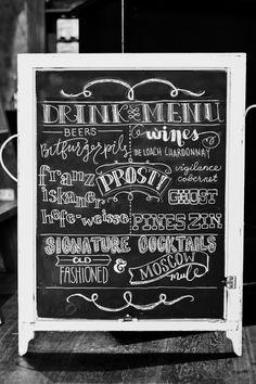 drink menu #handlettering #typography #sign #chalkboard