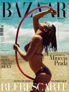 nice Harper's Bazaar Espanha Julho/Agosto 2013   Crystal Renn por Nico   [Capa e Editorial]