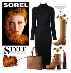 """Kick Up the Leaves (Stylishly) With SOREL: CONTEST ENTRY"" by conch-lady ❤ liked on Polyvore featuring NARS Cosmetics, Balmain, SOREL and sorelstyle"