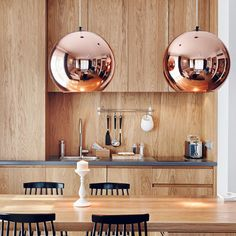 Tom Dixon collection of contemporary pendant, floor and table lights, including the bestselling Copper Shade and Mirror Ball. Copper Pendant Lights, Copper Lamps, Copper Decor, Copper Lighting, Modern Pendant Light, Pendant Lamps, Ceiling Pendant, Copper Wood, Ceiling Chandelier
