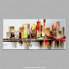 Hand-Painted Abstract & Modern Oil Painting Cityscape Oil Painting with Stretched One Panel Canvas Oil Painting – KWD Modern Oil Painting, City Painting, Oil Painting Abstract, Contemporary Paintings, Watercolor Art, Eagle Art, Abstract Canvas Art, City Art, Urban Art