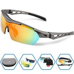 Torege Polarized Sports Sunglasses For Cycling Running Fishing Golf TR90 Unbreakable Frame TR003 (Grey) - http://www.exercisejoy.com/torege-polarized-sports-sunglasses-for-cycling-running-fishing-golf-tr90-unbreakable-frame-tr003-grey/cycling/