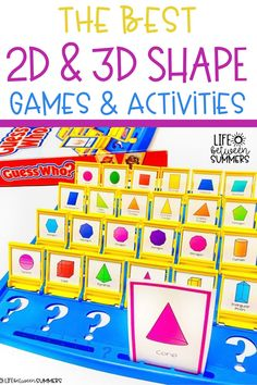 Are you looking for hands-on geometry activities to really spice up your math lessons? These geometry games and activities are a hit for K-3 students. You can use these math activities during math workshop, small groups, & math centers. Help students to learn about 2D shapes and 3D shapes with a shape scavenger hunts. This blog post also includes shape building activities. Geometry Jenga is one of the most engaging and exciting math games for young learners. What geometry activity will you pick?