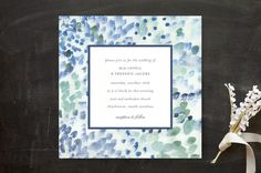 """""""Painted"""" - Abstract, Modern Wedding Invitations in Sea Glass by Sara Hicks Malone. Stationery Design, Invitation Design, Wedding Paper, Wedding Day, Wedding Reception Invitations, Invites, Holiday Photo Cards, Bat Mitzvah, Save The Date Cards"""
