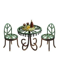 This Miniature Bistro Dining Set is perfect! #zulilyfinds