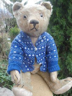 "VERY RARE ANTIQUE BING TEDDY BEAR 1910-1920s HUNCHBACK CHARACTER BEAR 40cm 15.8"""