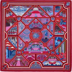 View this item and discover similar bandannas for sale at - Hermes Scarf   Carre   Flanerie a Versailles  by Pierre Marie x silk Burgundy   Plum    Blue Color ... 37cb81ed63d