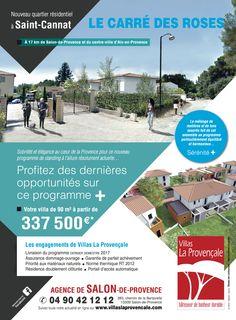 Dernière pub réalisée pour les Villas La Provençale : Le Carré des Roses à Saint-Cannat #pub #odyance #saintcannat