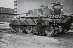 (Click for Hi-res) Original photos of a soldier showing off his Panther ausf. D.