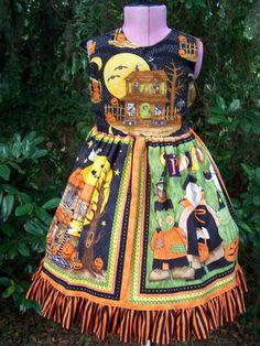 fun full halloween daisy kingdom style dress spooky by playpatch