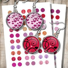 Valentine Jewelry Images Digital Collage Sheet Lovers