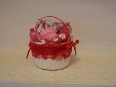 Items similar to Miniature Pamper Basket filled with Rose Toiletries on Etsy Baskets, Miniatures, Rose, Projects, Blog, Pink, Blue Prints, Hampers, Miniature
