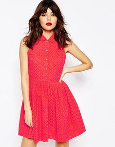 ASOS COLLECTION ASOS Mini Broderie Shirt Dress