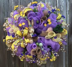 Hey, I found this really awesome Etsy listing at https://www.etsy.com/listing/221711985/easter-wreath-easter-decoration-spring