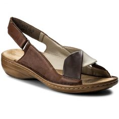 Sandále RIEKER - 60832-25  Braun Kombi