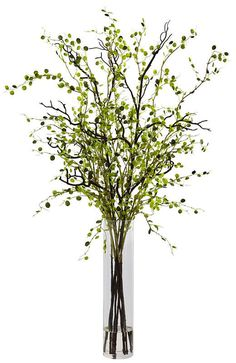 nearly natural Night Willow Artificial Floral Arrangement Spring Flower Arrangements, Artificial Floral Arrangements, Vase Arrangements, Flower Vases, Glass Cylinder Vases, Tall Vases, Tall Flowers, Faux Plants, Indoor Plants