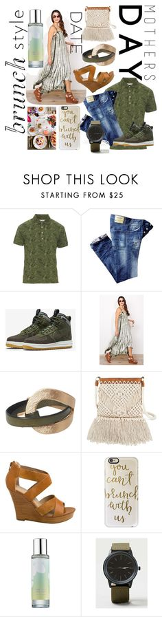 """""""BRUNCH DATE"""" by numeangeleyes ❤ liked on Polyvore featuring Michael Bastian, NIKE, Target, Seychelles, Casetify, Anthropologie, Pinrose, Topman and MothersDayBrunch"""