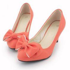 Princess Style Bowknot Pink Shoes