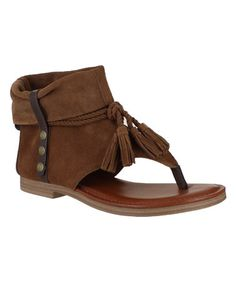 Loving this Rust Natasha Ankle-Cover Sandal on #zulily! #zulilyfinds