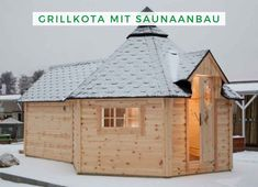 Build grill kota: Wolff Finnhaus grill kota de luxe with sauna extension Grill kota with sauna: Spend your vacation relaxed at home and do not miss anything. The Wolff Finn Greenhouse Gardening, Barbecue, Gazebo, Grilling, Shed, Outdoor Structures, Vacation, House Styles, Treehouses