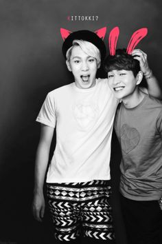 OnKey (Onew & Key of SHINee).    cutest thing in the history of ever!