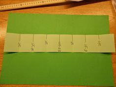 Step by step instructions for students to create a number line for fractions 0 to 1