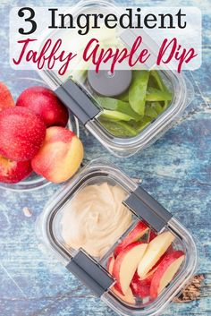 Are you looking for the perfect fall snack? My 3 Ingredient Taffy Apple Dip is delicious and perfect for fall! You probably have all the ingredients in the pantry! You would never guess that this creamy taffy apple dip is so simple to make. #StoredBrilliantly #ad