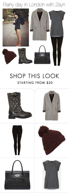 """Rainy day in London with Zayn"" by outfits-with-one-direction ❤ liked on Polyvore featuring KG Kurt Geiger, Topshop and Mulberry"