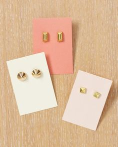 DIY Studded Earrings Tutorial