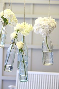 bottle blossoms.