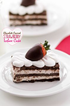 No Bake Chocolate Strawberry Icebox Bars Picture