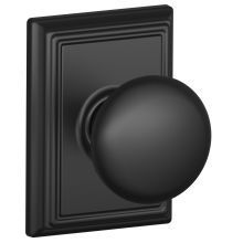 Buy the Schlage Matte Black Direct. Shop for the Schlage Matte Black Plymouth Passage Door Knob Set with Decorative Addison Trim and save. Black Door Hardware, Black Doors, Matte Black Door Handles, Plymouth, Addison Rose, Interior Door Knobs, Double Doors, Plumbing, Home Improvement