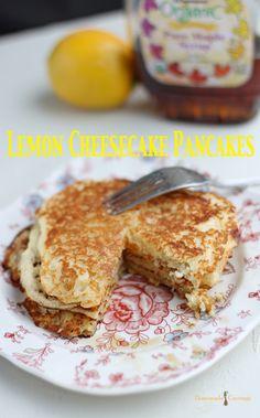 Lemon Cheesecake Pancakes