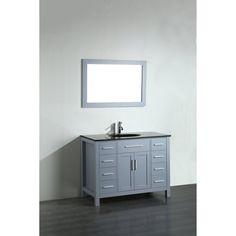 Bosconi SB-252 43 in. Single Sink Bathroom Vanity
