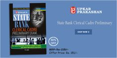 State Bank Clerical Cadre Preliminary Examination Book  For Junior Associates (Customer Support and Sales) and Junior Agricultural Associates with 30% Off.