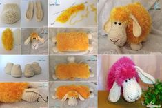 Wonderful DIY Adorable Knitted Lamb Pillow | WonderfulDIY.com
