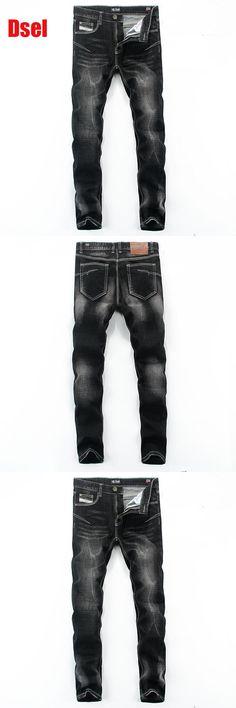 2016 New Dsel Brand Men Jeans,Skinny Jeans Men,Men Straight Fit Leisure Quality Cotton Biker Jeans Denim,black jeans!E702